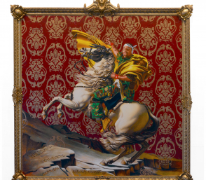 <p>Kehinde Wiley: Napoleon Leading the Army over the Alps</p>