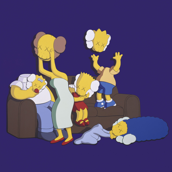 <p>KAWS: UNTITLED (KIMPSONS #2), 2004</p>
