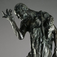 Auguste Rodin (French, 1840–1917). Pierre de Wiessant, Monumental (Pierre de Wissant, monumental), 1887, cast 1979. Bronze, 845⁄8 x 46 × 39 in. (214.9 × 116.8 × 99.1 cm). Brooklyn Museum, Gift of Iris and B. Gerald Cantor, 84.243