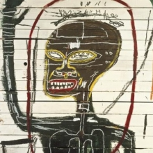 <p><i>Flexible</i>, 1984. Acrylic and oil paintstick on wood. The Estate of Jean-Michel Basquiat</p>