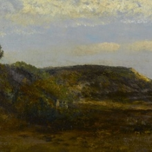 <p>Homer Dodge Martin (American, 1836–1897). <i>Normandy Coast</i>, 1884. Oil on board. Brooklyn Museum, Bequest of Charles A. Schieren, 15.281</p>