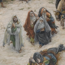 <p>James Tissot (French, 1836&ndash;1902). <i>What Our Lord Saw from the Cross</i>, 1886&ndash;94. Opaque watercolor over graphite on gray-green wove paper, 9<sup>3</sup>&frasl;<sub>4</sub> x 9<sup>1</sup>&frasl;<sub>6</sub> in. (24.8 &times; 23 cm). Brooklyn Museum, Purchased by public subscription, 00.159.299</p>