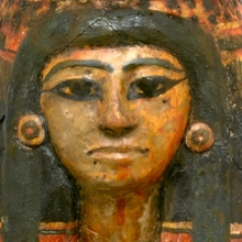 <p><i>Coffin of the Lady of the House, Weretwahset, Reinscribed for Bensuipet with Mask and Body Cover</i>. Egypt, from Deir el-Medina. New Kingdom, early Dynasty 19, circa 1292&ndash;1190 <small>B.C.E. </small>Wood, cartonnage, painted, box with lid in place: 25<sup>3</sup>&frasl;<sub>8</sub> x 19<sup>11</sup>&frasl;<sub>16</sub> x 76<sup>3</sup>&frasl;<sub>16</sub> in. (64.5 &times; 50 &times; 193.5 cm). Brooklyn Museum, Charles Edwin Wilbour Fund, 37.47Ea&ndash;d</p>