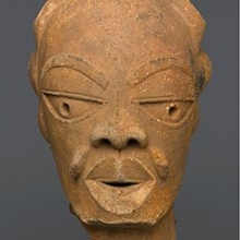 <p>Left: Magdalene Anyango N. Odundo (British, born 1950, Kenya). <em>Vessel</em>, 1990, Farnham, Surrey, United Kingdom. Ceramic, slip, 16 &times; 10 &times; 10 in. (40.6 &times; 25.4 &times; 25.4 cm). Brooklyn Museum, Purchased with funds given by Dr. and Mrs. Sidney Clyman and the Frank L. Babbott Fund, 1991.26; Right: Unidentified Nok culture artist, circa 550&ndash;50 <small>B.C.E.</small> <em>Male Head</em>, Kaduna, Plateau or Nassarawa state, Nigeria. Terracotta, 12 &times; 7<sup>1</sup>&frasl;<sub>2</sub> x 9<sup>1</sup>&frasl;<sub>2</sub> in. (30.5 &times; 19.1 &times; 24.1 cm). Brooklyn Museum, Gift of Lisa and Bernard Selz, exhibited through the generosity of the National Commission for Museums and Monuments of the Federal Republic of Nigeria, TL2005.62. (Photos: Brooklyn Museum)</p>