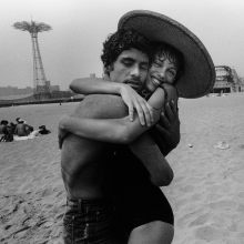 Harvey Stein (American, born 1941). The Hug: Closed Eyes and Smile, 1982. Digital, inkjet archival print, 13 × 19 in. (33 × 48.3 cm). Collection of the artist. © Harvey Stein, 2011