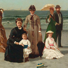 <p>Samuel S. Carr (American, 1837&ndash;1908). <em>Beach Scene</em>, circa 1879. Oil on canvas, 12 &times; 20 in. (30.5 &times; 50.8 cm). Smith College Museum of Art, Northampton, Massachusetts; Bequest of Annie Swan Coburn (Mrs. Lewis Larned Coburn)</p>
