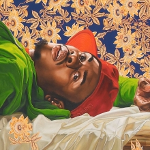 <p>Kehinde Wiley (American, b. 1977). <em>Femme piqu&eacute;e par un serpent</em>, 2008. Oil on canvas, 102 &times; 300 in. (259.1 &times; 762 cm). Courtesy of Sean Kelly, New York. &copy; Kehinde Wiley</p>