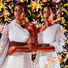 <p>Kehinde Wiley (American, b. 1977). <em>The Two Sisters</em>, 2012. Oil on linen, 96 &times; 72 in. (243.8 &times; 182.9 cm). Collection of Pamela K. and William A. Royall, Jr. &copy; Kehinde Wiley. (Photo: Jason Wyche, courtesy of Sean Kelly, New York)</p>