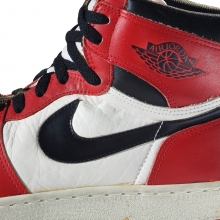 Nike. Air Jordan I, 1985. Nike Archives. (Photo: Ron Wood. Courtesy American Federation of Arts/Bata Shoe Museum)