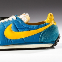 <p>Nike. Waffle Trainer, 1974. Northampton Museums and Art Gallery, Northampton, UK. (Photo: Ron Wood. Courtesy American Federation of Arts/Bata Shoe Museum)</p>