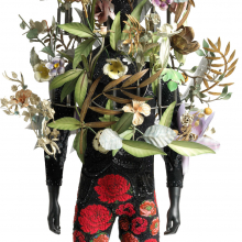 <p>Nick Cave (American, born 1959). <em>Soundsuit</em>, 2008. Mixed media.112 x 43 x 35 in. (284.5 x 109.2 x 88.9 cm). Brooklyn Museum, Mary Smith Dorward Fund, 2009.44a b. © Nick Cave. Photo: Courtesy of Jack Shainman Gallery</p>