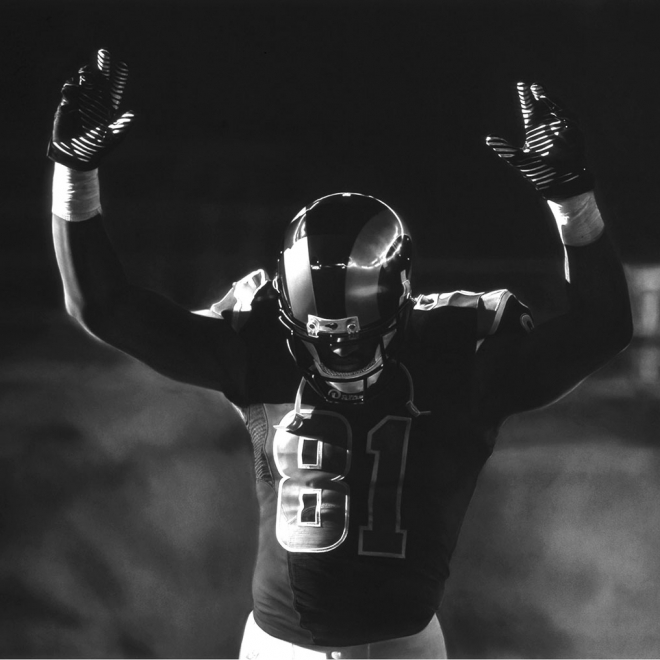 Robert Longo: Untitled (St. Louis Rams/Hands Up)