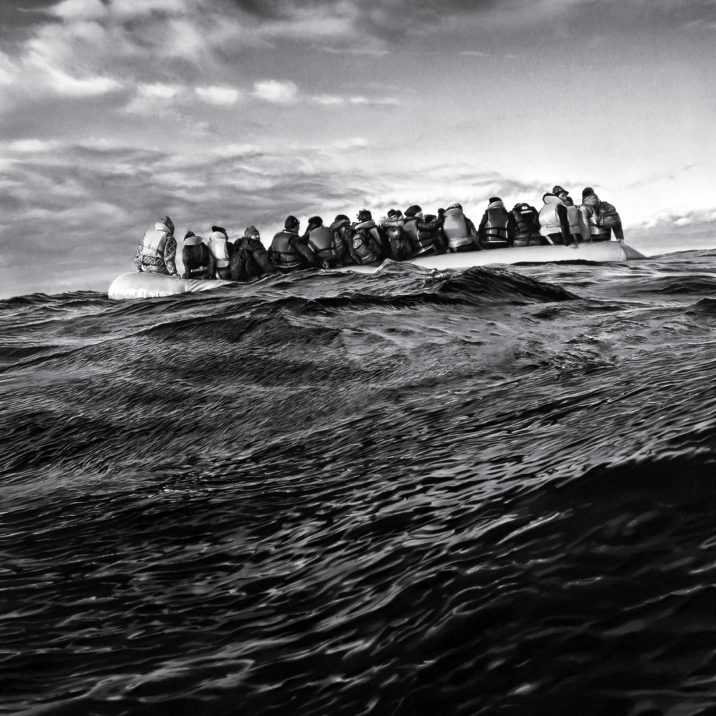 Robert Longo: Untitled (Raft at Sea)