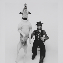 <p>Promotional photograph of David Bowie for <em>Diamond Dogs</em>, 1974. Photograph by Terry O'Neill. Image © Victoria and Albert Museum</p>