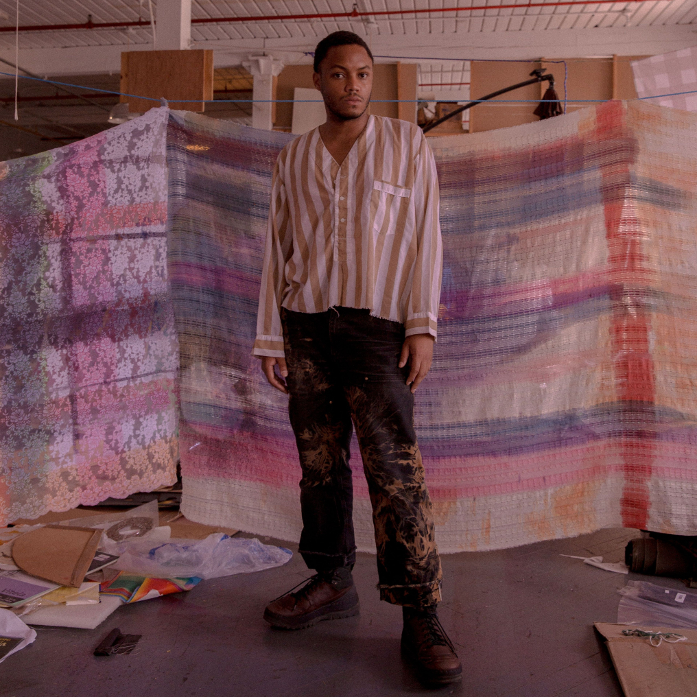 Eric N. Mack in his studio