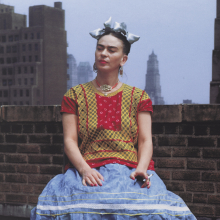 Nickolas Muray (American, born Hungary, 1892–1965). Frida in New York, 1946; printed 2006. Carbon pigment print, image: 14 x 11 in. (35.6 x 27.9 cm). Brooklyn Museum; Emily Winthrop Miles Fund, 2010.80. © Nickolas Muray Photo Archives. (Photo: Brooklyn Museum)