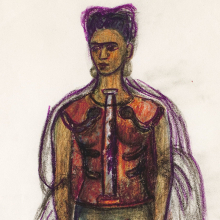 <p>Frida Kahlo (Mexican, 1907–1954). <em>Appearances Can Be Deceiving</em>, n.d. Charcoal and colored pencil on paper, 11<sup>1</sup>/<sub>4</sub> x 8 in. (29 x 20.8 cm). Collection of Museo Frida Kahlo. © 2019 Banco de México Diego Rivera Frida Kahlo Museums Trust, Mexico, D.F. / Artists Rights Society (ARS), New York</p>
