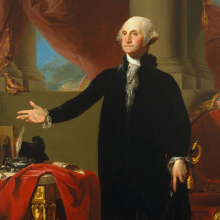 <p>Gilbert Stuart (American, 1755–1828). <em>George Washington</em>, 1796. Oil on canvas, 96<sup>1</sup>/<sub>4</sub> × 60<sup>1</sup>/<sub>4</sub> in. (244.5 × 153 cm). Brooklyn Museum; Dick S. Ramsay Fund and Museum Purchase Fund, 45.179. (Photo: Brooklyn Museum)</p>