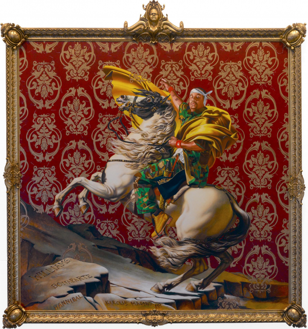 """Kehinde Wiley: """"Napoleon Leading the Army over the Alps"""" (2005). Imagen: Museo de Brooklyn."""