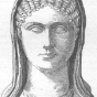 <p><em>Bust of Aspasia</em>. Roman copy after a Greek original. From <em>Young Peoples&rsquo; Cyclopedia of Persons and Places</em>, by John D. Champlin, Jr. (New York: Henry Holt and Company, 1881)</p>