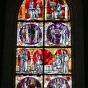 <p><em>Stained Glass Window Depicting Scenes of the Life and Works of Hrosvitha</em>, n.d. Gandersheim Cathedral, Bad Gandersheim, Northeim, Germany. (Image: Raymond Faure, Harz-Photos)</p>