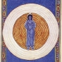 <p><em>Die wahre Dreiheit in der wahren Einheit</em>. Manuscript illumination from <em>Scivias (Know the Ways)</em> by Hildegard of Bingen (Disibodenberg: 1151)</p>