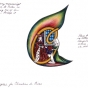 <p>Judy Chicago. <em>Drawing for Christine de Pisan Illuminated Letter on runner</em>, 1978. Mixed media on paper, approx. 9 × 12 in. (22.9 × 30.5 cm). © Judy Chicago. (Photo: © Donald Woodman)</p>