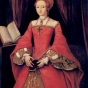 <p>Attributed to William Scrots. <em>The Princess Elizabeth, Aged About 13</em>, circa 1546. The Royal Collection, Windsor Castle</p>