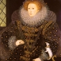 <p>Nicholas Hilliard. <em>The Ermine Portrait of Queen Elizabeth I</em>, 1585. The Gascoyne Cecil Estates, Hatfield Park Estate, Hatfield House, Hertfordshire</p>