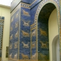 <p><em>Ishtar Gate</em>, 575 <small>B.C.E.</small> Reconstruction. Pergamon Museum, Berlin</p>