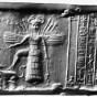 <p><em>Cylinder Seal</em>. Iraq, Akkadian Period, reign of Naramsin or Sharkalshari, circa 2254&ndash;2193 <small>B.C.E.</small> Oriental Institute, University of Chicago. Purchase, New York, 1947, OIM A27903. (Photo: &copy; 1997 Oriental Institute, University of Chicago)</p>