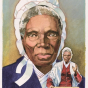 <p>Jerry Pinkney. <em>Black Heritage: Sojourner Truth</em>, 1986. From the <em>American Legends, Black Heritage</em> stamp series. Art director: Jack Williams. Collection of the United States Postal Service. (Image: &copy; U.S. Postal Service. All rights reserved)</p>