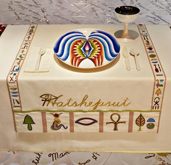 Judy Chicago: The Dinner Party (detail)