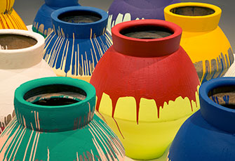 Ai Weiwei: Colored Vases (detail)