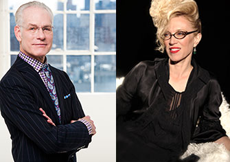 <p>Tim Gunn and Valerie Steele</p>