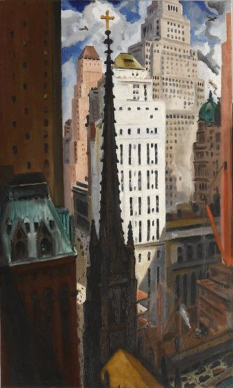 Bertram Hartman: Trinity Church and Wall Street