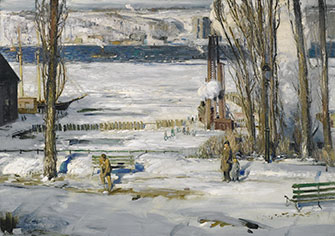 George Wesley Bellows: A Morning Snow—Hudson River