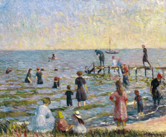 William Glackens: Bathing at Bellport, Long Island