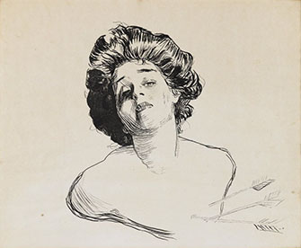 <p>Charles Dana Gibson: Young Woman Struck with Cupid's Arrows</p>