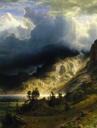 Albert Bierstadt: A Story in the Rock Mountains, Mt. Rosalie