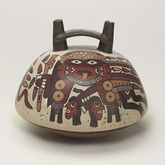 <p>Nasca Double-Spout Vessel</p>