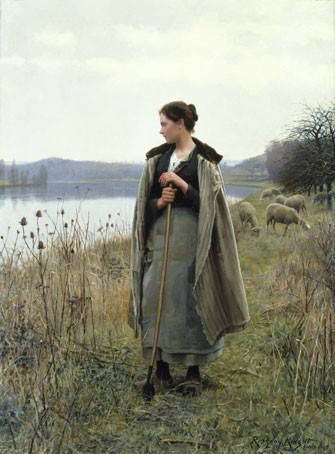 Daniel Ridgway Knight: The Shepherdess of Rolleboise