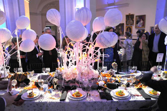 <p>Brooklyn Artists Ball table</p>