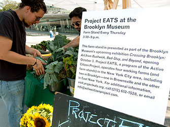 <p>Project EATS farm stand at Brooklyn Museum</p>