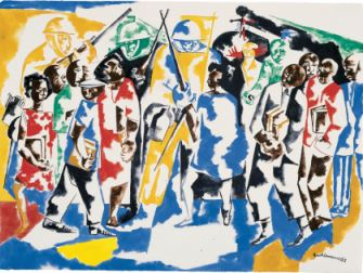 <p>Jacob Lawrence: Soldiers and Students</p>