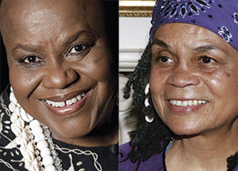 Sharon Farmer/Beacon Press: Bernice Johnson Reagon and Sonia Sanchez