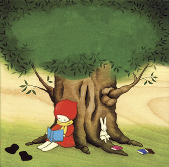Naoko Stoop: Red Knit Cap Girl and the Reading Tree