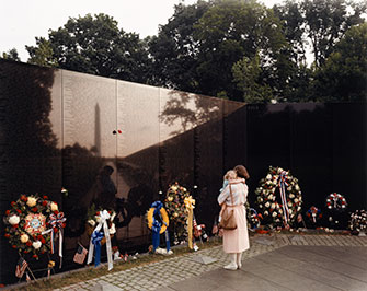 Joel Sternfeld:  Vietnam Veterans Memorial, Washington, D.C.