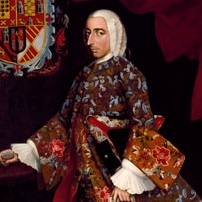 <p>Miguel Cabrera (Mexican, 1695–1768). <i>Don Juan Xavier Joachín Gutiérrez Altamirano Velasco, Count of Santiago de Calimaya</i>, circa 1752. Oil on canvas, 81<sup>5</sup>⁄<sub>16</sub> x 53<sup>1</sup>⁄<sub>2</sub> in. (206.5 &#215; 135.9 cm). Brooklyn Museum, Museum Collection Fund and the Dick S. Ramsay Fund, 52.166.1</p>