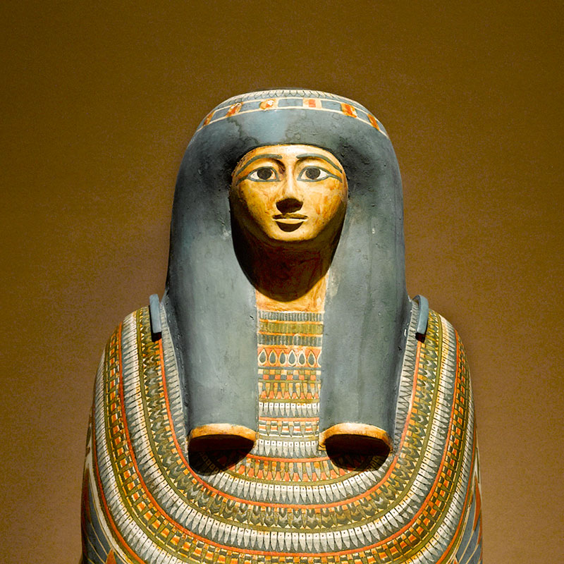 Egyptian: detail of Inner Cartonnage of Gautseshenu